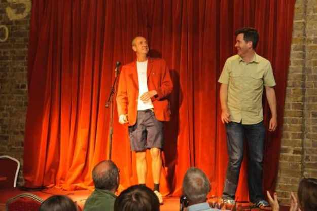 Arthur Smith and me on stage