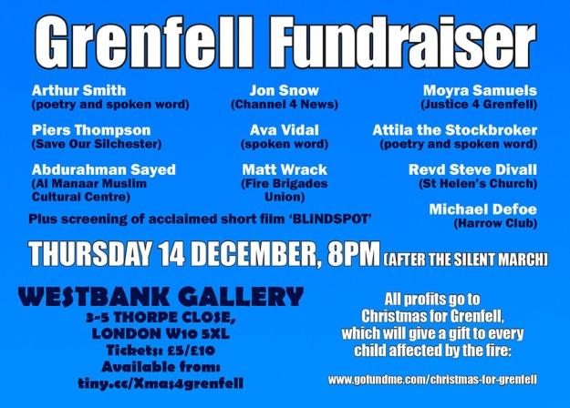 Grenfell fundraiser e-flyer